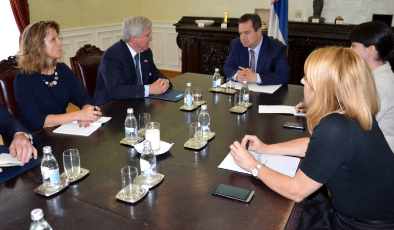 US Amb. Scott discusses US-Serbia relations with Serbian Foreign Minister