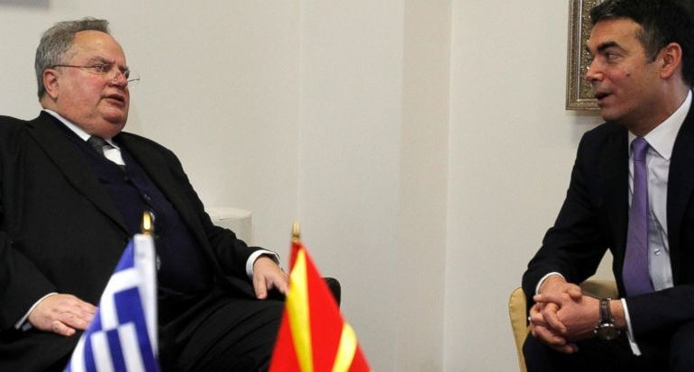 Kotzias in Macedonia for Name Negotiations on Thursday