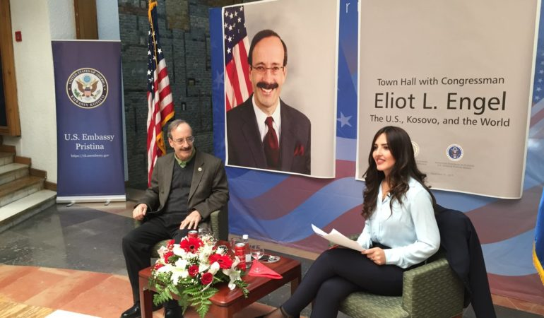 Congressmen Engel Meets Students in Kosovo