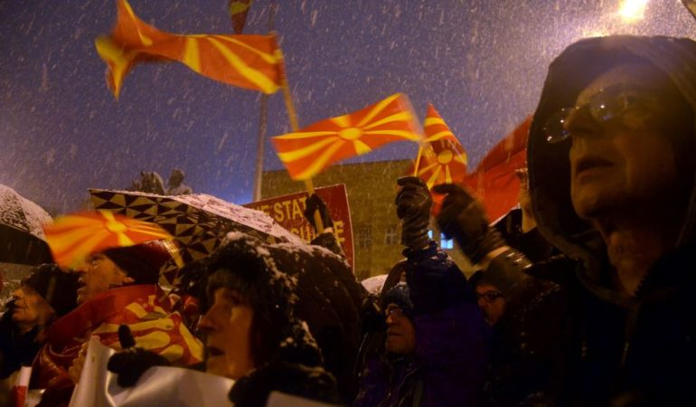 Macedonia Opposition Protest the Government