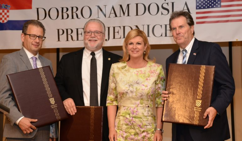 Croatian President Honored at 25th Anniversary of the National Federation of Croatian Americans