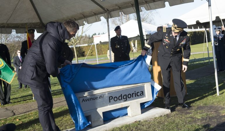 Podgorica (MNE) Street Unveiled at NATO Headquarters