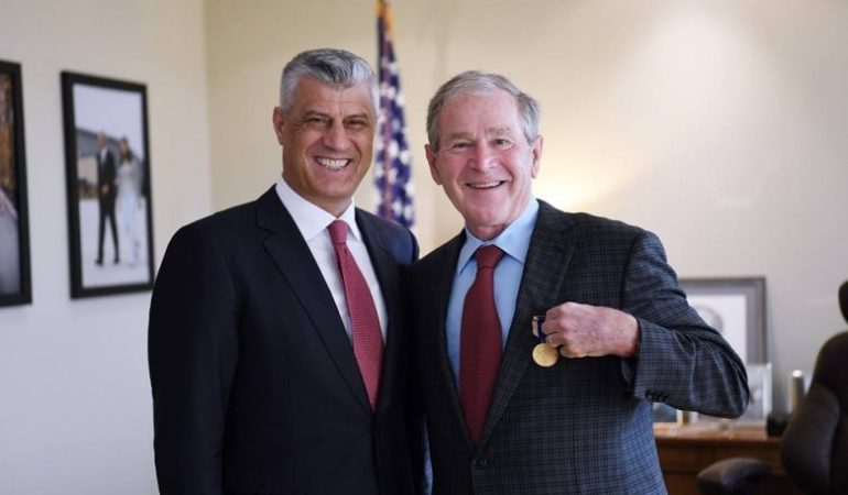 Kosovo WEEKEND ROUNDUP: Thaci Decorates George W. Bush With the Order of Independence; Hahn in Kosovo on Monday; Srpska Lista MPs to Wait for Hahn in Parliament; Kosovo to Vote on Army on Monday; Hoxhaj Looks for Regional Pact Against Serbia