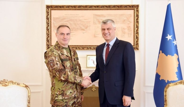 Thaci Receives New KFOR Commander