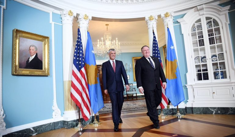 Hashim Thaci Meets US Secretary of State Mike Pompeo