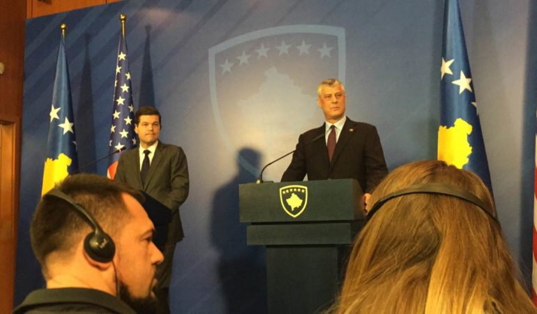 Thaci and Wess Mitchell on Talked on the Phone?